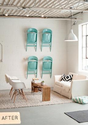 Décoration chaises murales