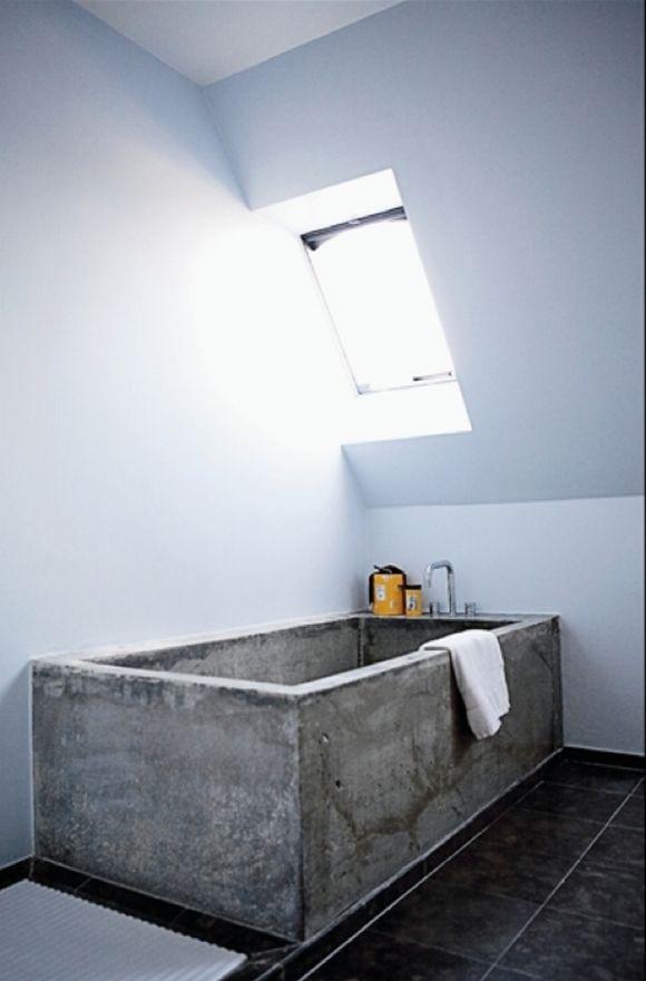 Décoratin salle de bain béton