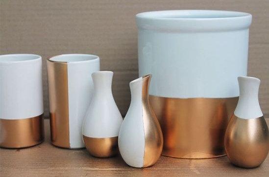 Décoration DIY créamique et cuivre