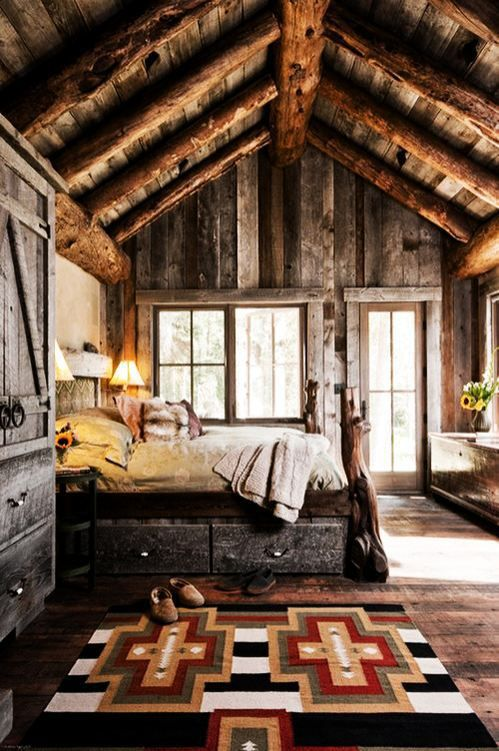 Une ambiance rustique dans la chambre - Floriane Lemarié