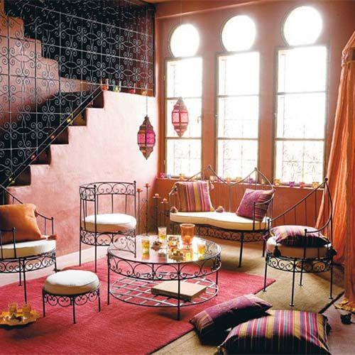 Le chic marocain dans votre salon floriane lemari - Les salons traditionnels marocains ...