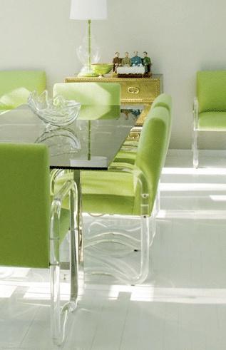 Décoration séjour vert