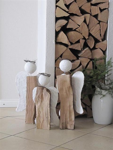 Diy les anges b chent pour no l floriane lemari - Fausse cheminee en carton pour noel ...