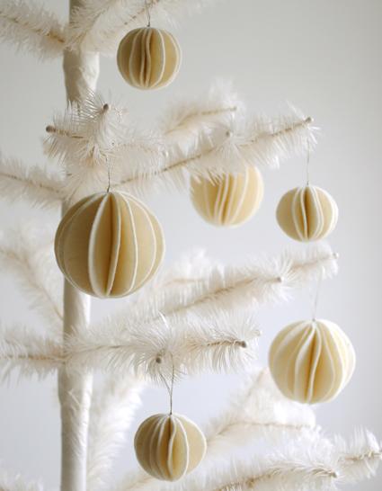 DIY boules de Noël en feutre