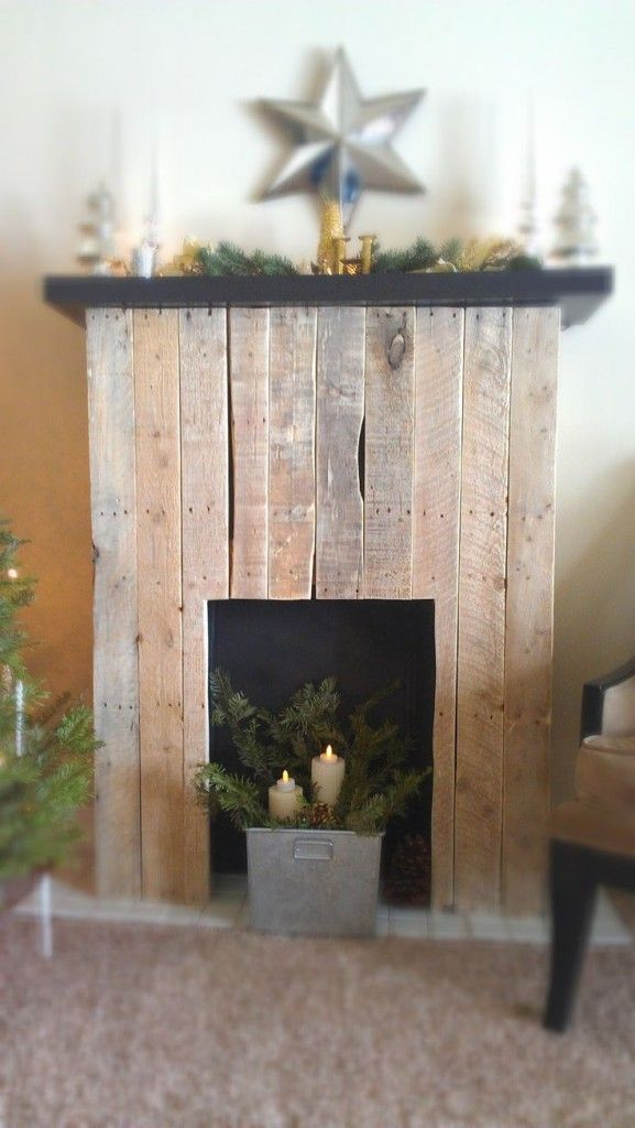 A Fake Fireplace For Christmas Trendy Home Decorations