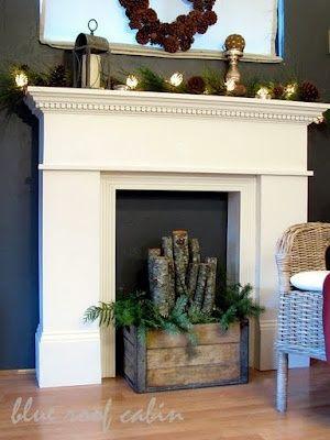 Décoration fausse cheminée