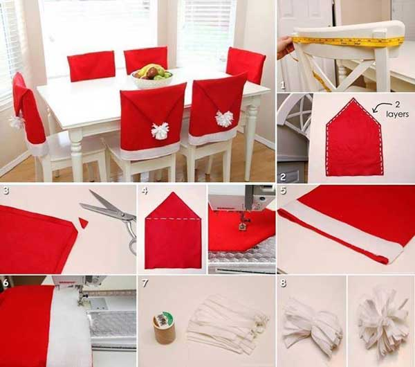 l 39 id e d co du samedi des housses de chaises pour no l floriane lemari. Black Bedroom Furniture Sets. Home Design Ideas