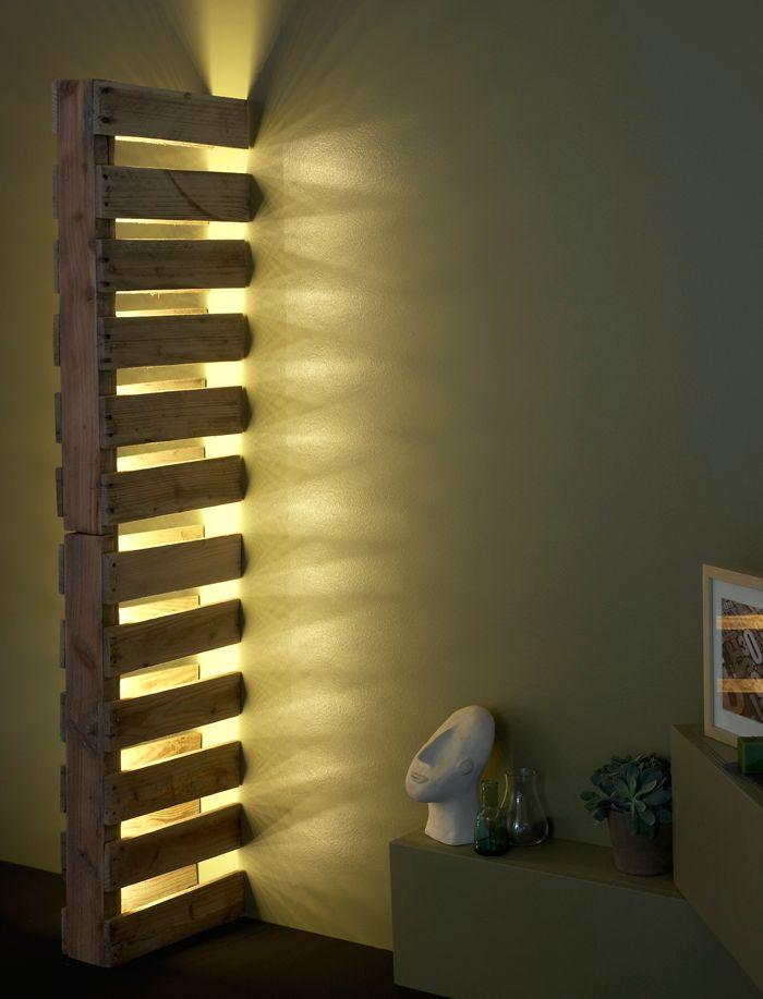 L Idee Deco Du Samedi La Lampe Palettes Floriane Lemarie