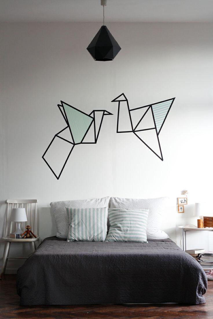 l 39 id e d co du dimanche une t te de lit masking tape floriane lemari. Black Bedroom Furniture Sets. Home Design Ideas