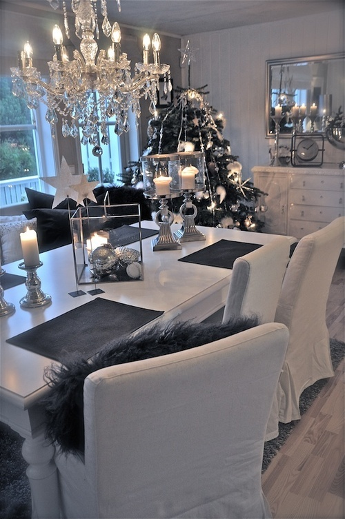 Black And White Ideas To Prepare Your Christmas Table Trendy