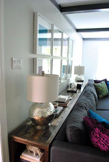 des rangements autour du canap floriane lemari. Black Bedroom Furniture Sets. Home Design Ideas