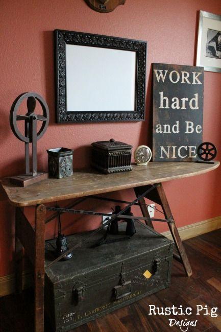 Diy recyclez votre vieille table repasser floriane lemari - Table a repasser avec les mains ...