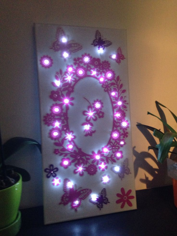 diy comment cr er un tableau lumineux floriane lemari. Black Bedroom Furniture Sets. Home Design Ideas
