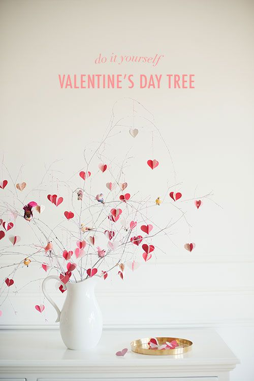 L 39 id e d co du samedi un arbre c urs pour la saint for Decoration porte st valentin