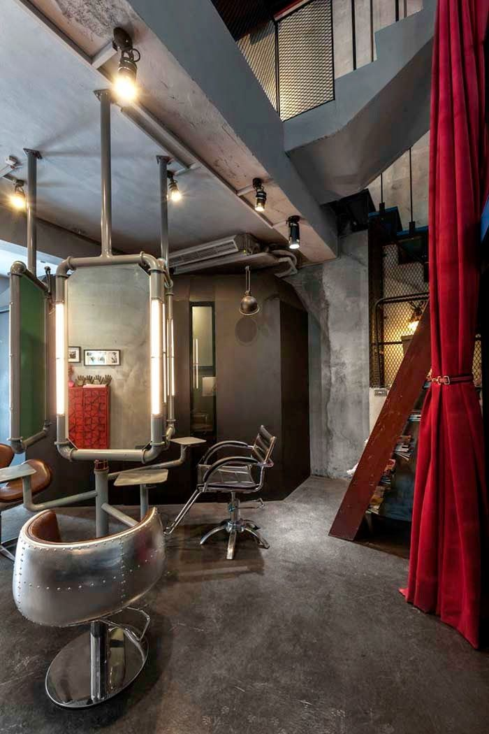 The red sublimates the gray in the decor! - Trendy Home ...