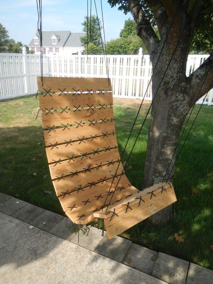 Diy un fauteuil suspendu avec du bois de palette for Comment faire un fauteuil avec des palettes