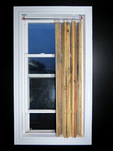 Décoration DIY rideaux palettes