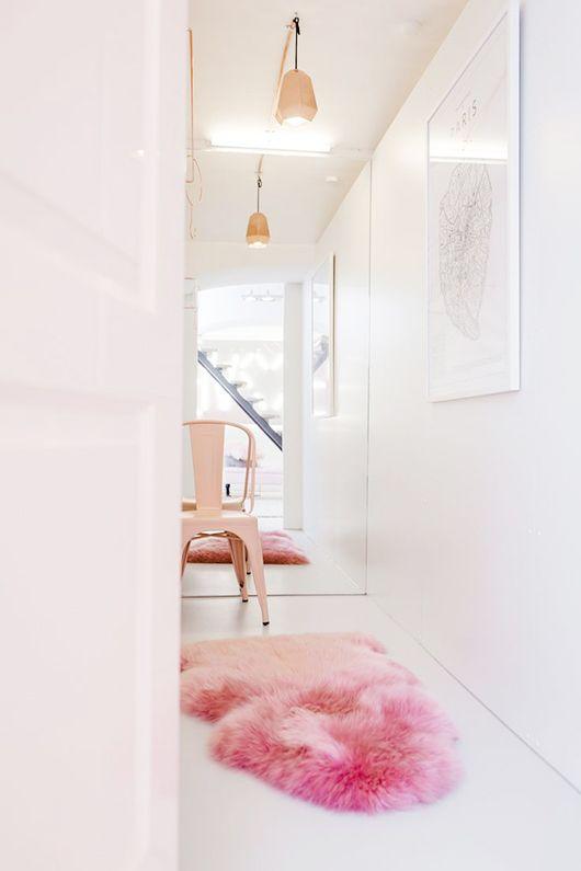 Décoration rose et blanc