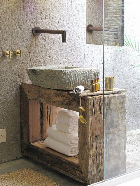 Du rustique dans la salle de bain ! - Floriane Lemarié