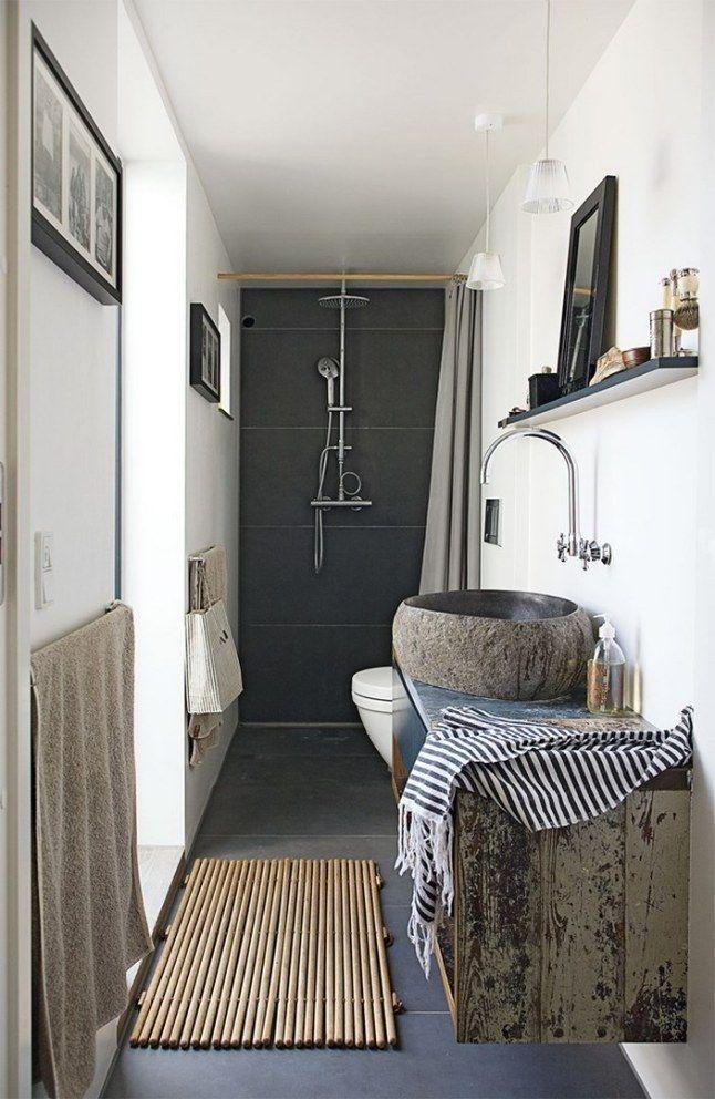 Du rustique dans la salle de bain floriane lemari for Pinterest salle de bains