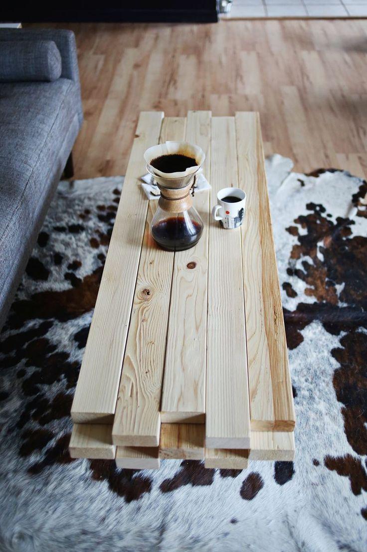 diy fabriquer une table basse avec des planches de bois floriane lemari. Black Bedroom Furniture Sets. Home Design Ideas