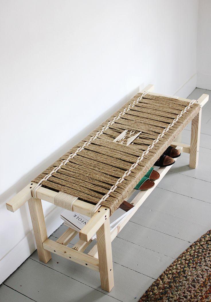 DIY banc tissé