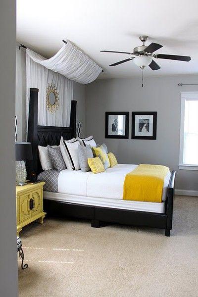 Décoration gris et jaune