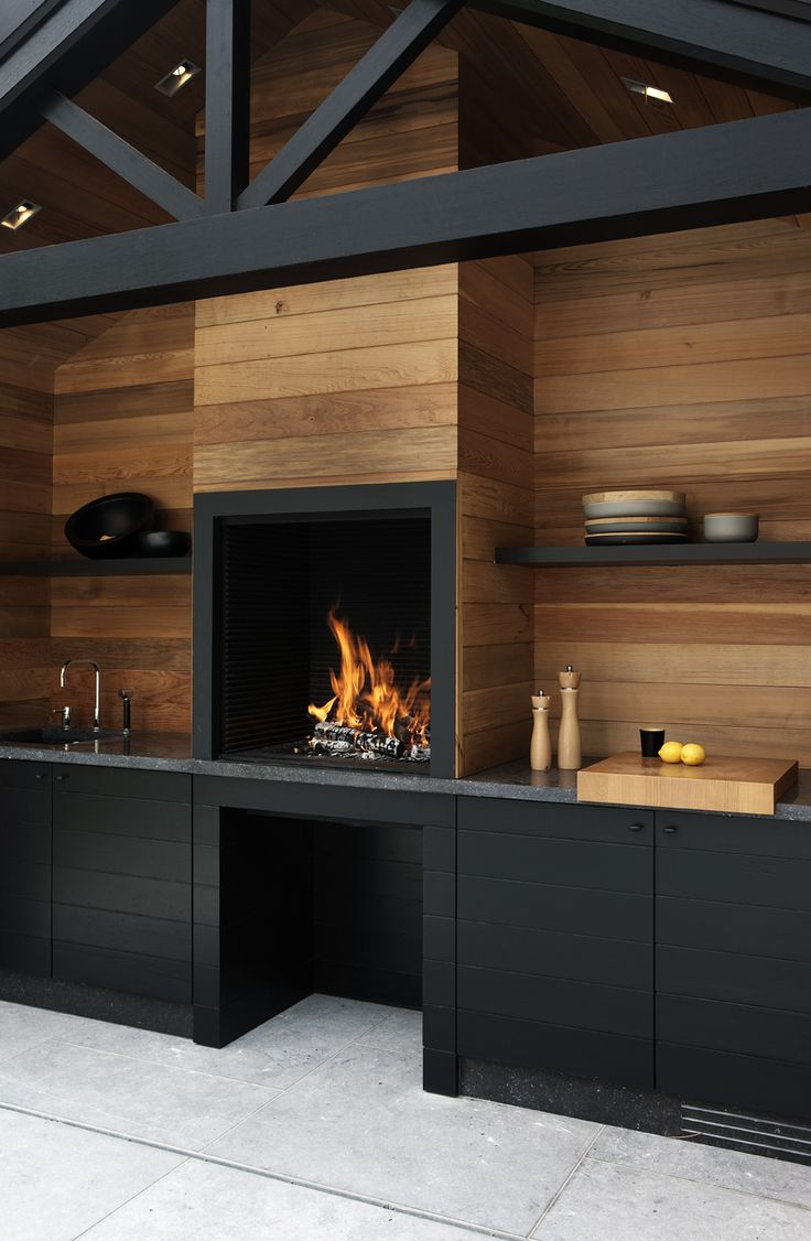 Cuisine Bois Et Noir Mat ambiances in black and wood! - trendy home decorations