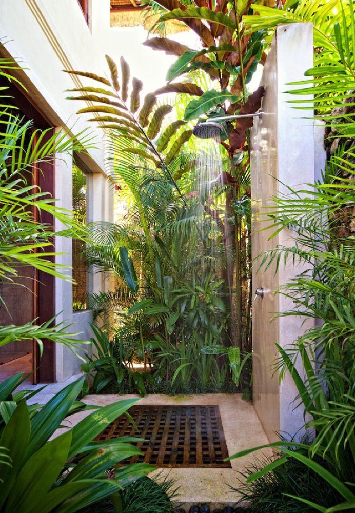 Douche jardin décoration