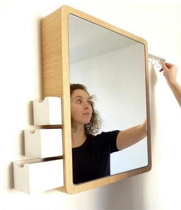 Décoration miroir boîte à bijoux