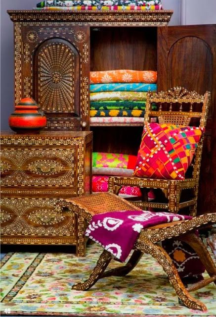 D cors aux couleurs de l 39 inde floriane lemari for Muebles hippies