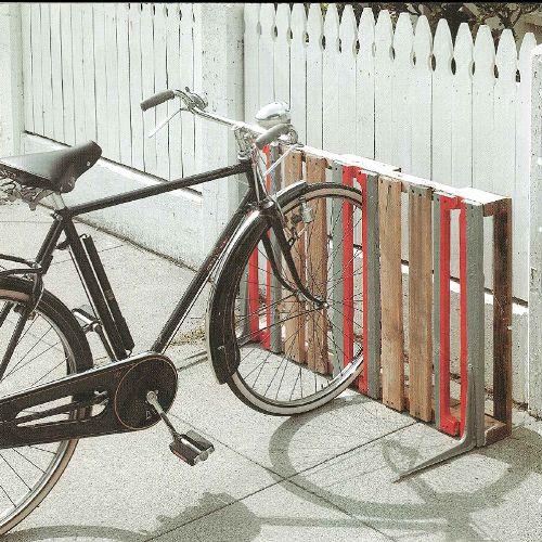 Décoration rack vélo palette
