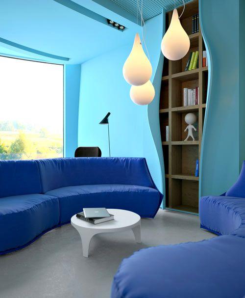 Décoration bleu