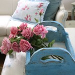 Décoration bleu et rose