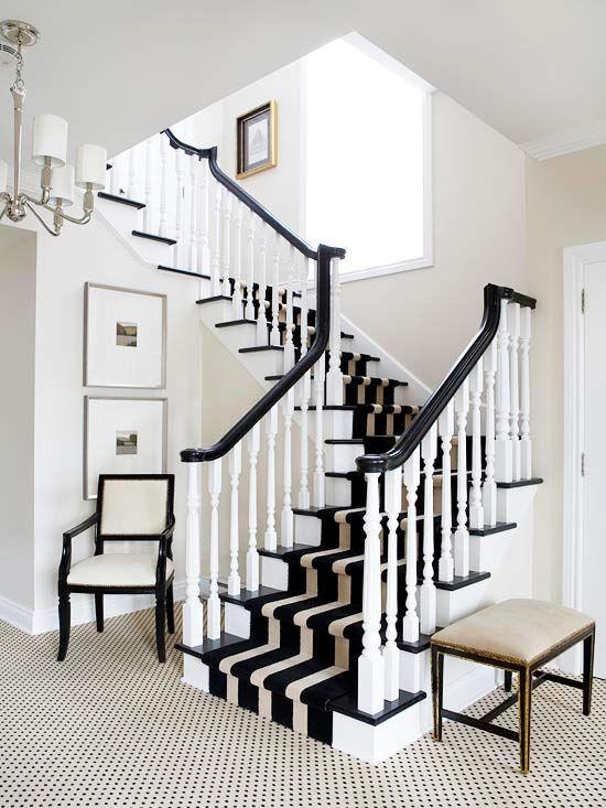 Des Escaliers Chics En Noir Et Blanc Floriane Lemarié