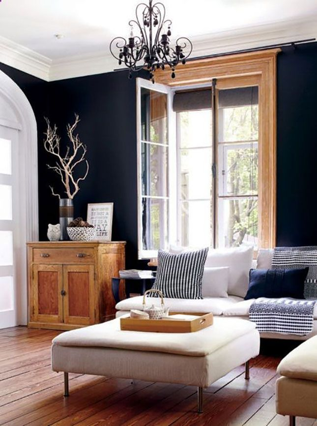 le blanc et le noir subliment le bois dans la d co. Black Bedroom Furniture Sets. Home Design Ideas