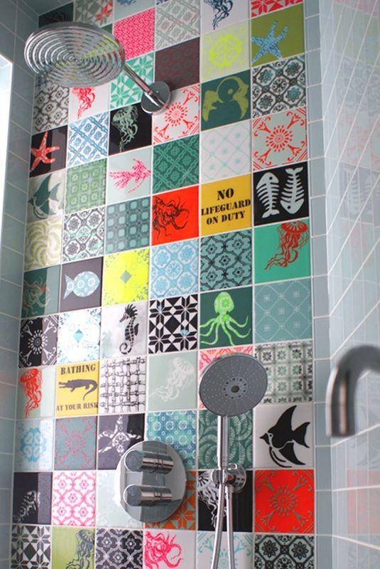 Les carreaux de ciment grimpent aux murs floriane lemari for Carreaux muraux
