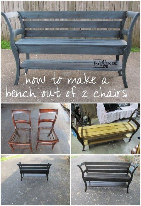 diy fabriquer un banc en faisant du recyclage floriane lemari. Black Bedroom Furniture Sets. Home Design Ideas