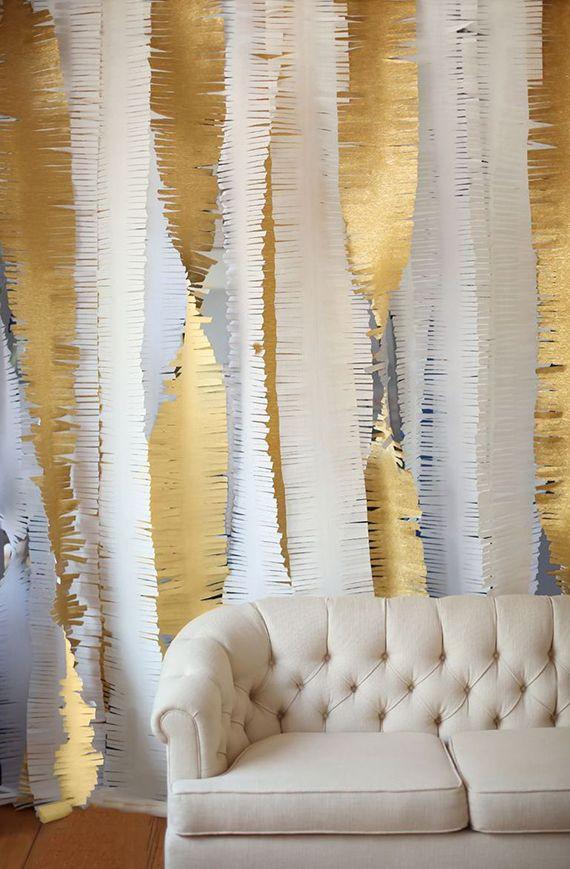 Décoration blanc et or