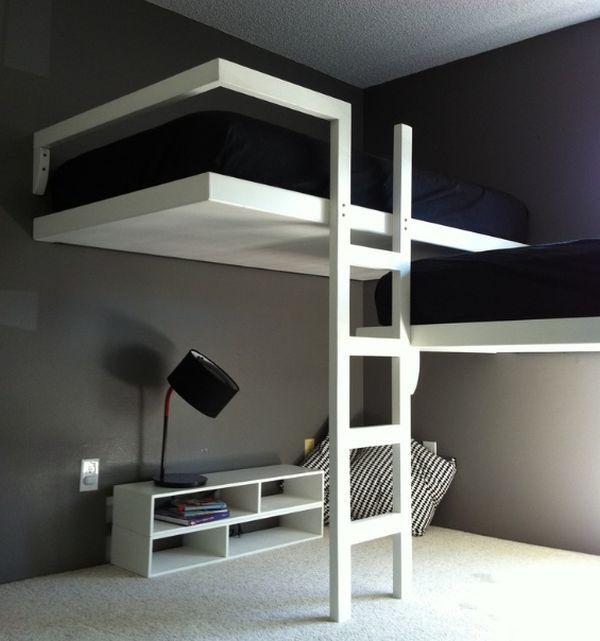 Gagner de la place avec un lit mezzanine floriane lemari - Lit mezzanine studio ...