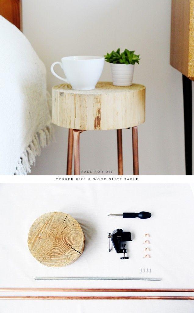 L 39 id e d co du samedi une table avec du bois et des for Idee deco avec du bois