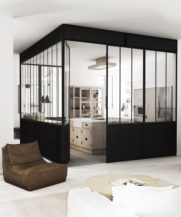 une verri re atelier dans la maison floriane lemari. Black Bedroom Furniture Sets. Home Design Ideas