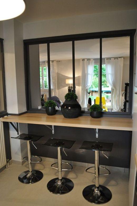 Une verri re atelier dans la maison floriane lemari - Cuisine avec verriere atelier ...