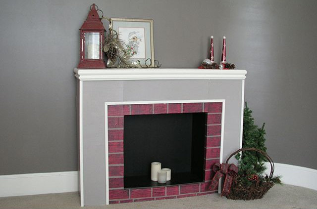 Fake Christmas Fireplace.Diy How To Create A Fake Fireplace For Christmas Trendy
