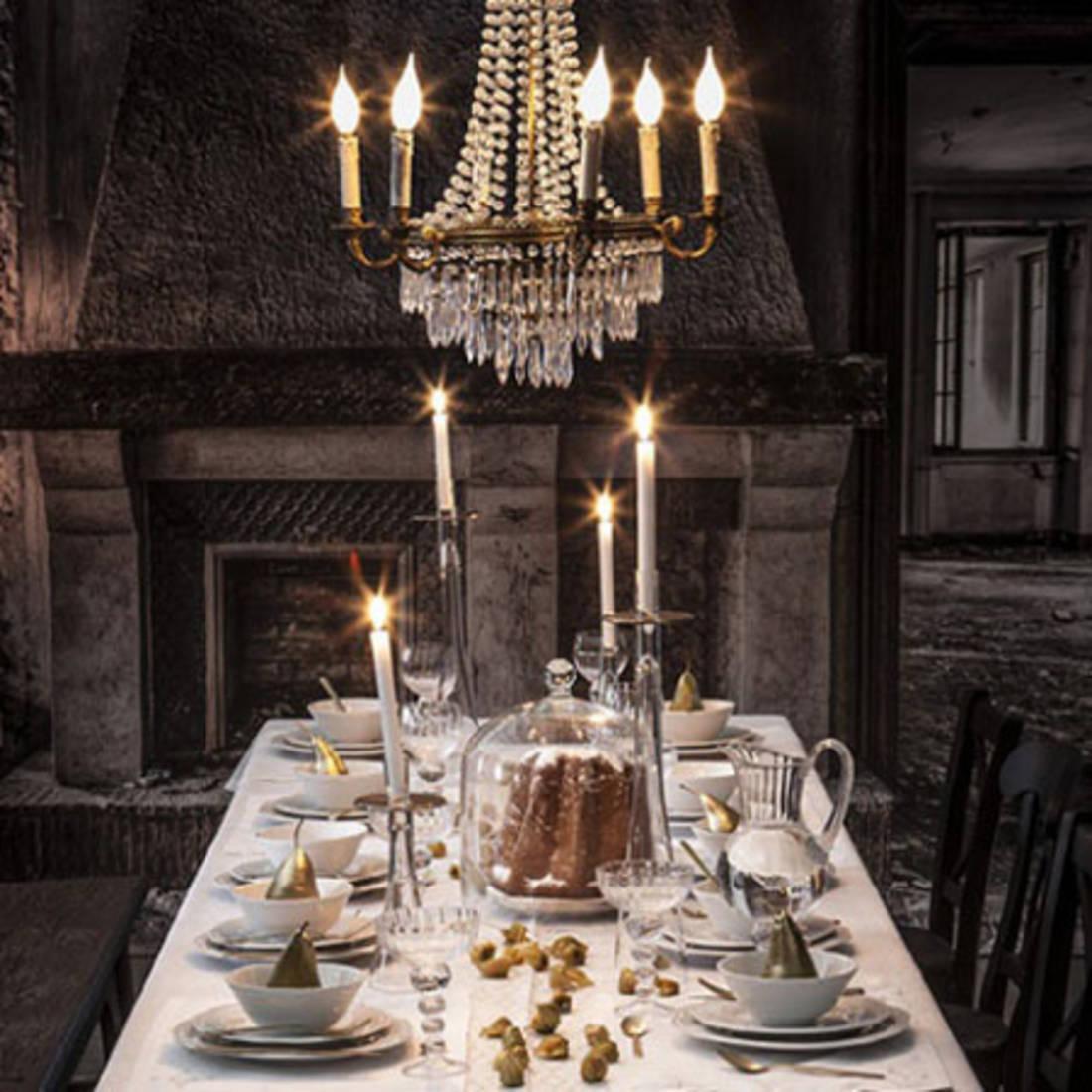 Decoration table de noel avec du houx d coration table de for Deco table noel bleu argent