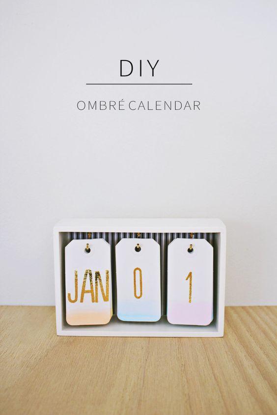 Décoration calendrier DIY