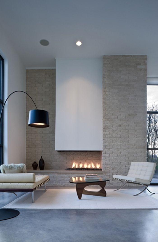 La chemin e se modernise floriane lemari - Deco salon cheminee moderne ...