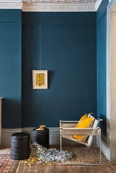 Déco bleu canard et jaune - Floriane Lemarié