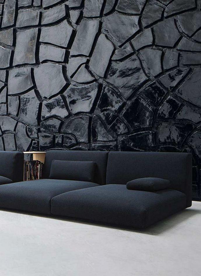 Décoration murs noirs