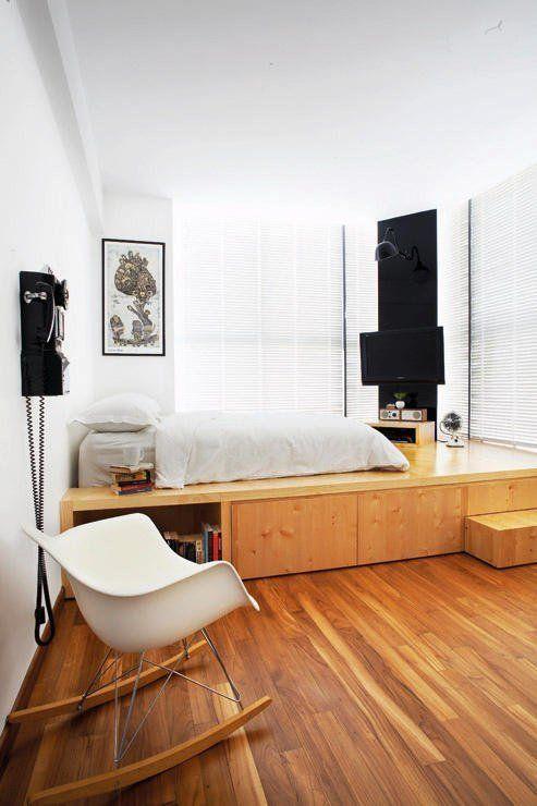 Des lits plateformes pour optimiser le rangement - Lit estraderaisons pour aimer le lit estrade ...